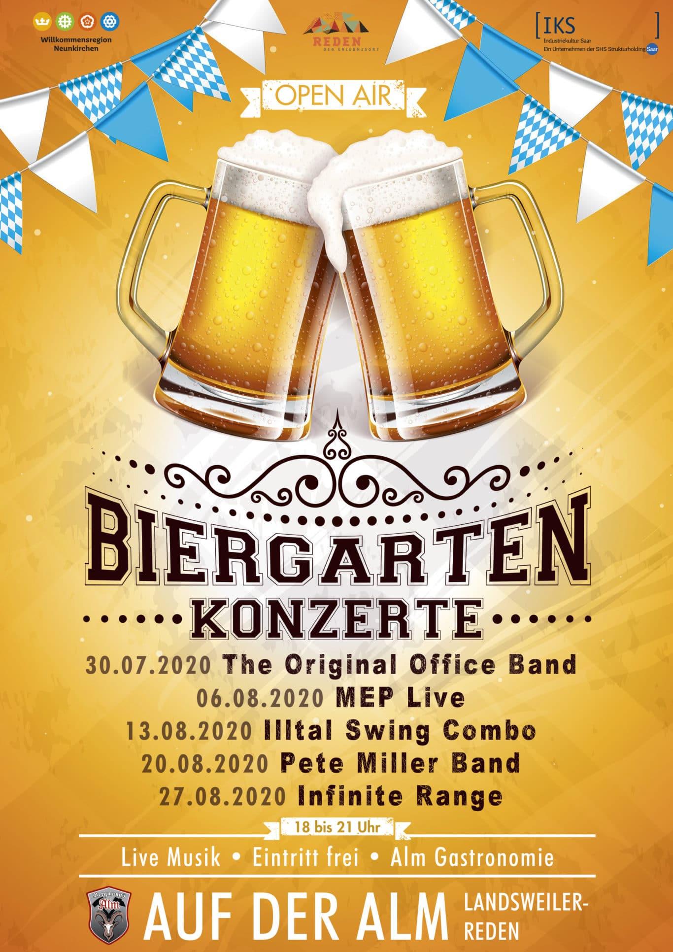 Biergarten Plakat Bergmanns-Alm