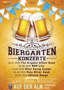 Plakat ogródka piwnego Bergmanns-Alm
