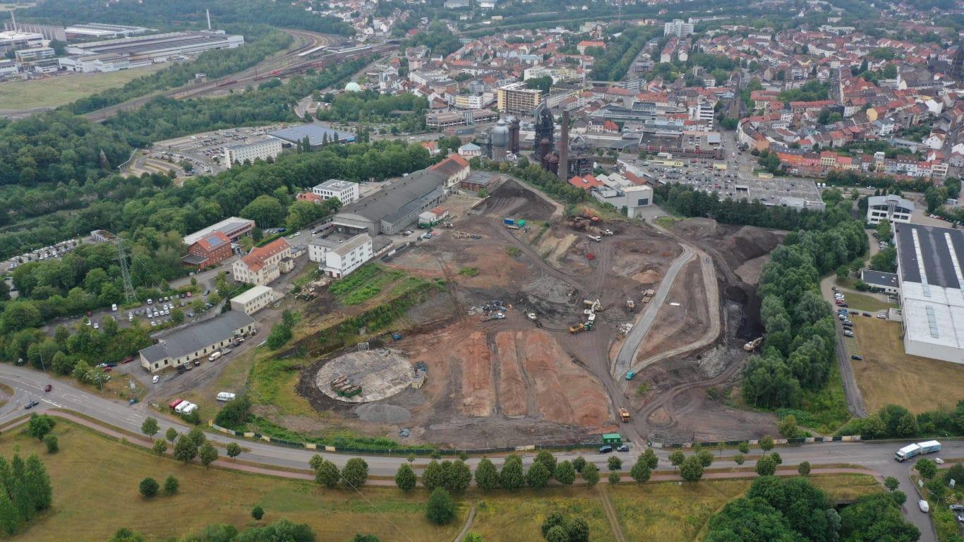 Aktueller Blick auf die Baustelle in Neunkirchen | Bild: Globus SB-Warenhaus