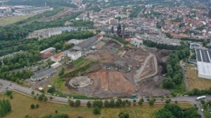 Current view of the construction site in Neunkirchen | Image: Globus hypermarket