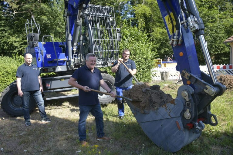 Groundbreaking at the regional office of THW Jugend Saarland