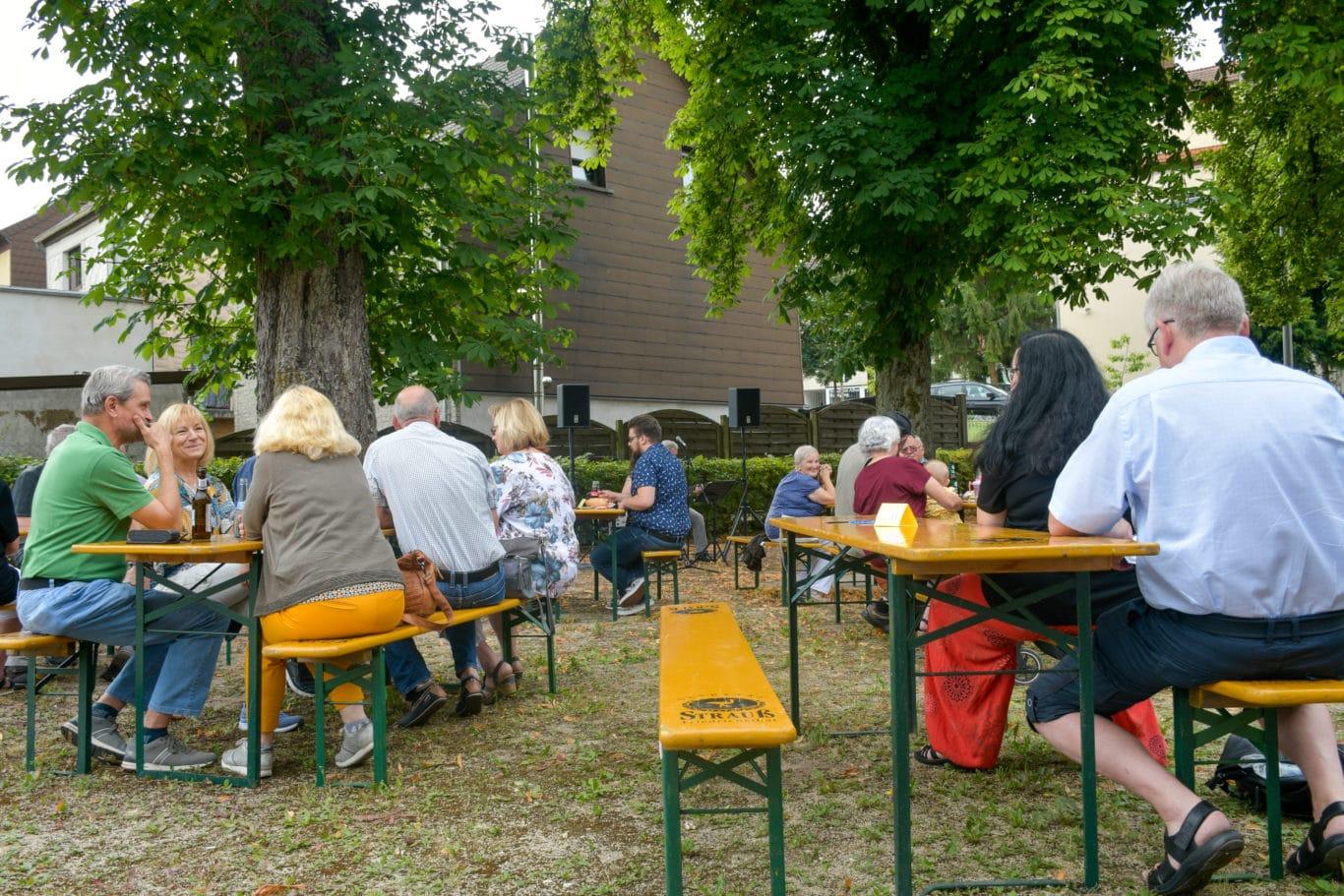 Bergmannsfrühstück im Rechtsschutzsaal Bildstock