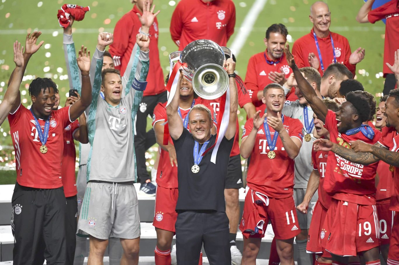 Fussball Champions League/ Finale/ Paris St. Germain - Bayern Muenchen Siegerehrung | Bild: Frank Hoermann/ SVEN SIMON / imagoImages