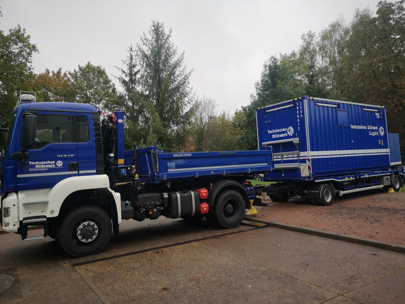 Die beiden neuen Fahrzeuge des THW Sulzbach | Bild: THW OV Sulzbach