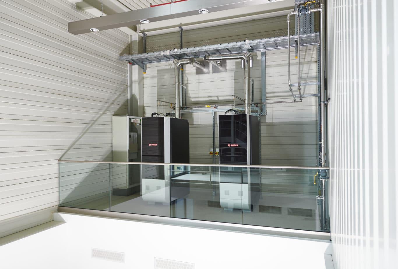 SOFC-Pilotanlagen im erfolgreichen Betrieb an einem Bosch-Standort. | Bild: Bosch