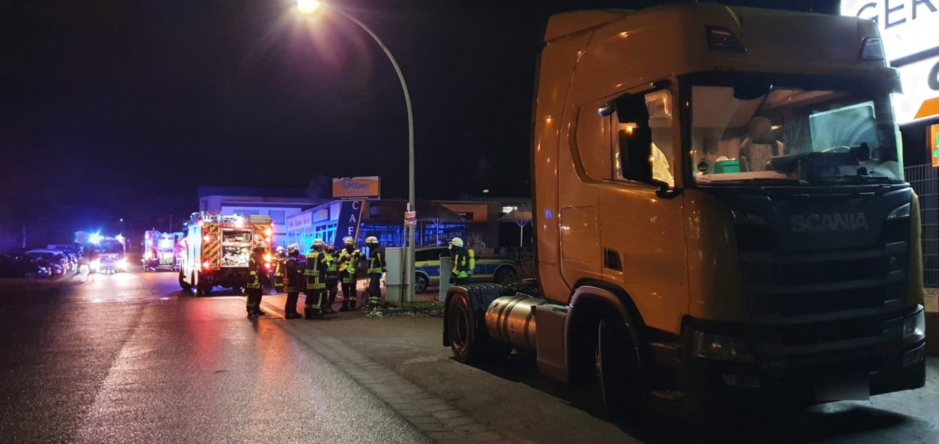 Flüssiggas trat aus LKW aus
