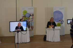 Anke Rehlinger bei der Kick-off Veranstaltung zum Radverkehrsplan Foto: MWAEV