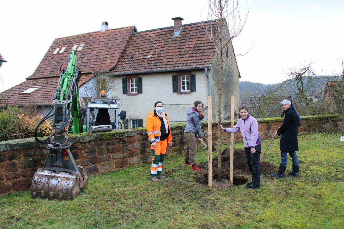 v. l. n. r.: BBH-Meisterin Aneta Faber, Ellen Heinzel, Karin Heinzel und Simon Heinzel | Bild: Stadt Homburg