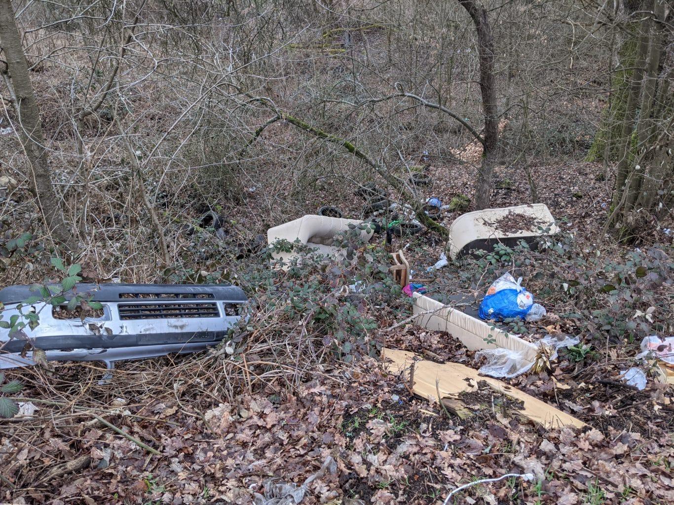 Müllablagerung Pfaffenkopf Burbach