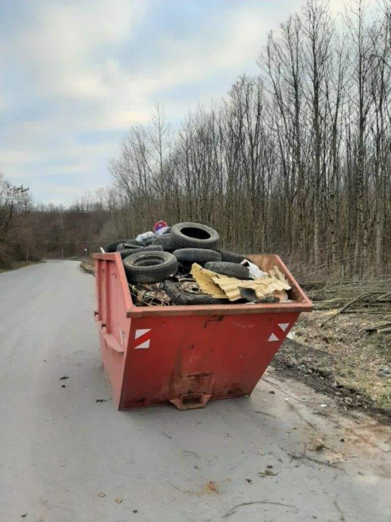 Wilde Müllablagerung in Friedrichsthal