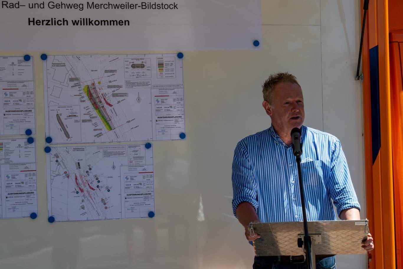 Merchweiler Bürgermeister Patrick Weydmann
