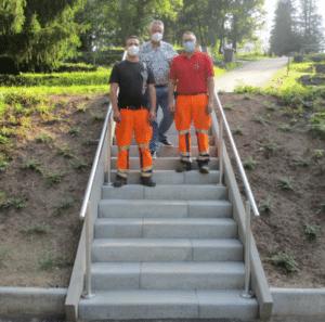 Neue Treppe am Friedhof   Bild Stadt Friedrichsthal