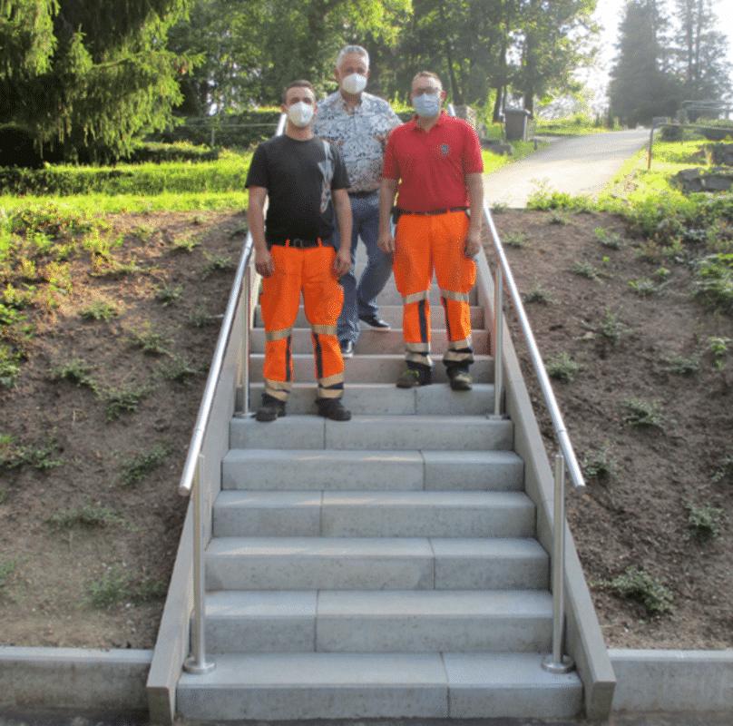 Neue Treppe am Friedhof | Bild Stadt Friedrichsthal