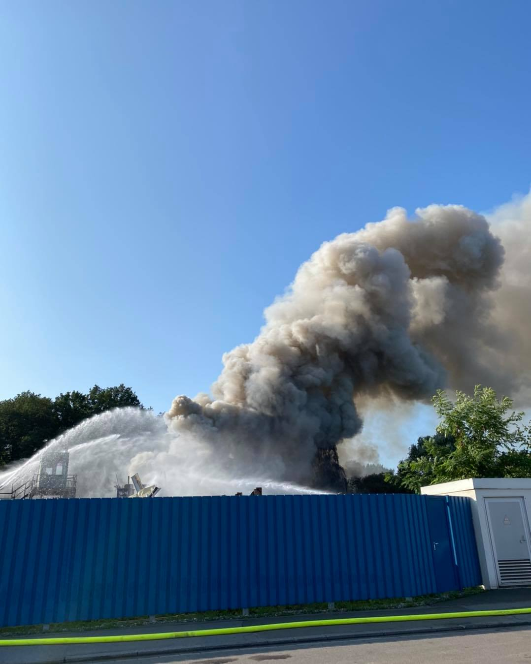 Großbrand Homburg, Bild Feuerwehr Homburg