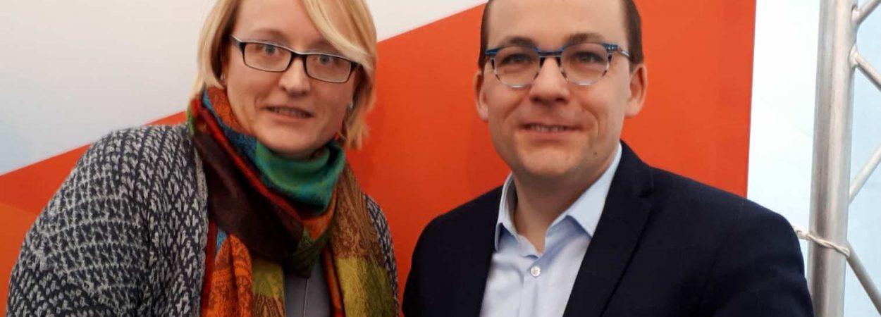 Anja Wagner-Scheid mit dem CDU Spitzenkandidaten zur Europawahl Roland Theis | Bild: CDU Friedrichsthal