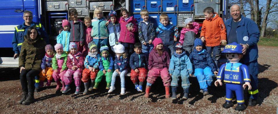 THW zu Gast im Kindergarten