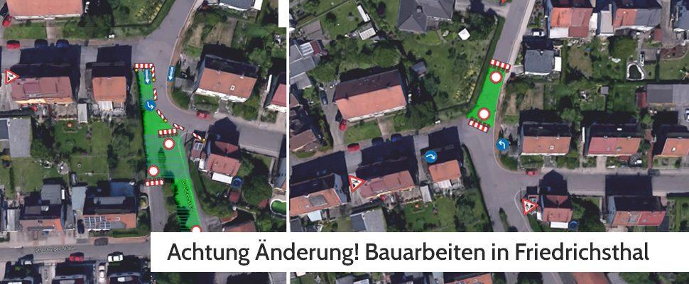 So soll die Sperrung eingerichtet werden | Bild: Stadtverwaltung Friedrichsthal
