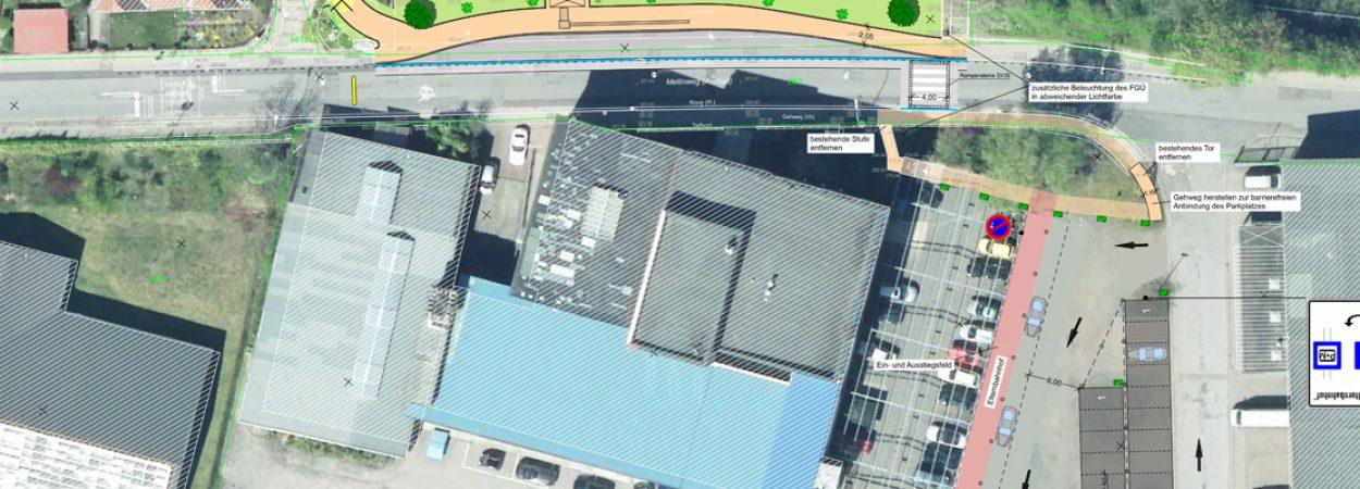 Elternbahnhof Parkplätze Mellinschule | Bild: Stadt Sulzbach