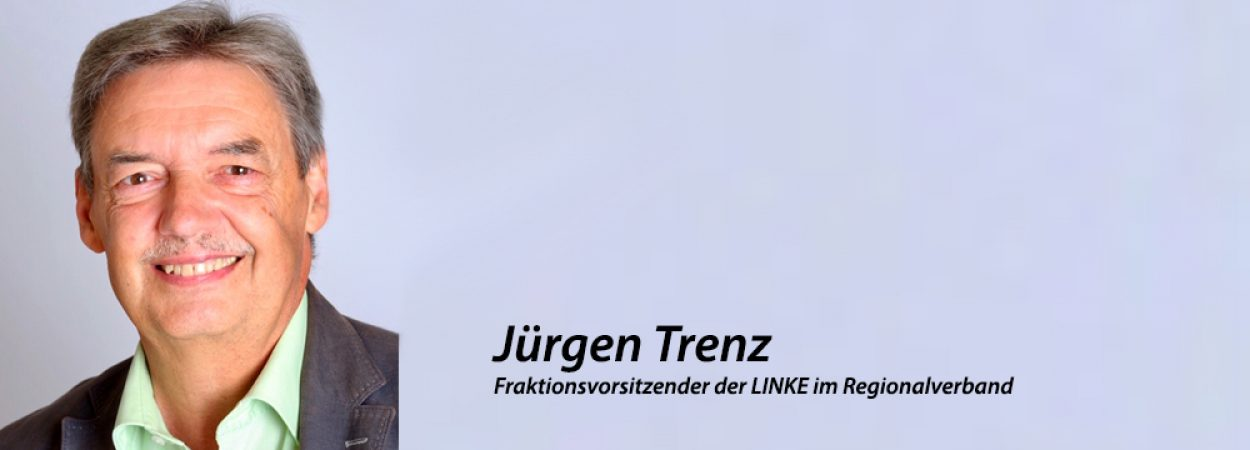 Jürgen Trenz, Fraktionsvorsitzender der LINKE im Regionalverband