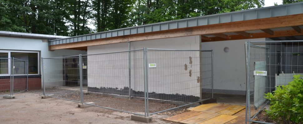 The forest school is being renovated
