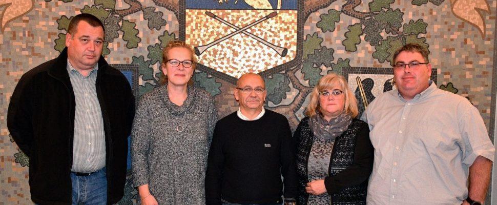 Die Vertreter des Vereins, v.l.n.r.: Jörn Walter, Daniela Schmidt-Keskin, Heinz Engelfried, Vroni Längler, Rudi Klein
