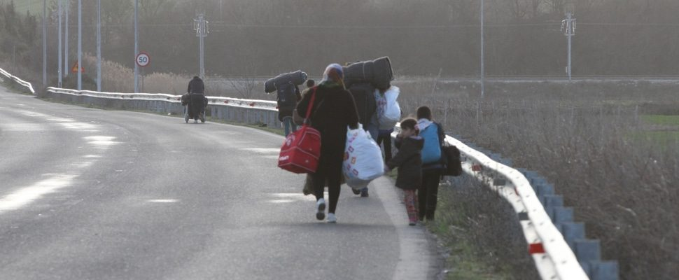 Refugees on the Balkan route, via dts