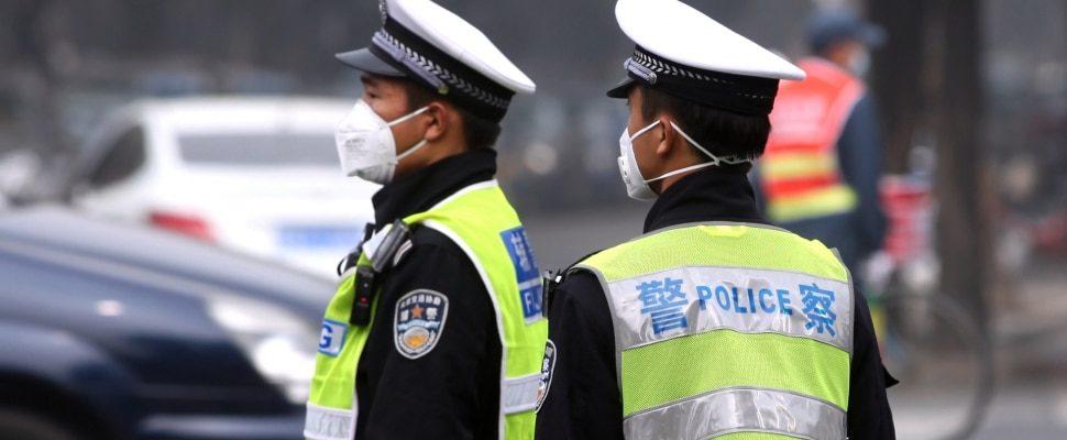 Polizisten in China, über dts