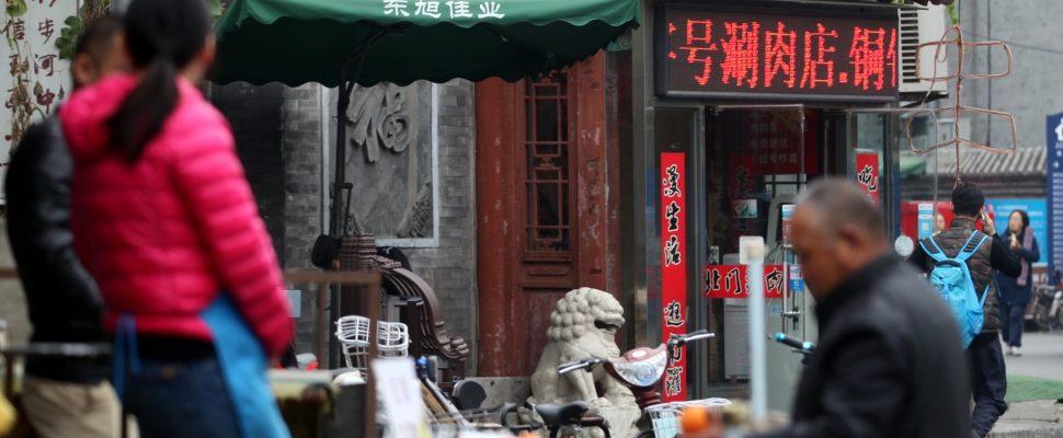 Mercado en Beijing, sobre dts