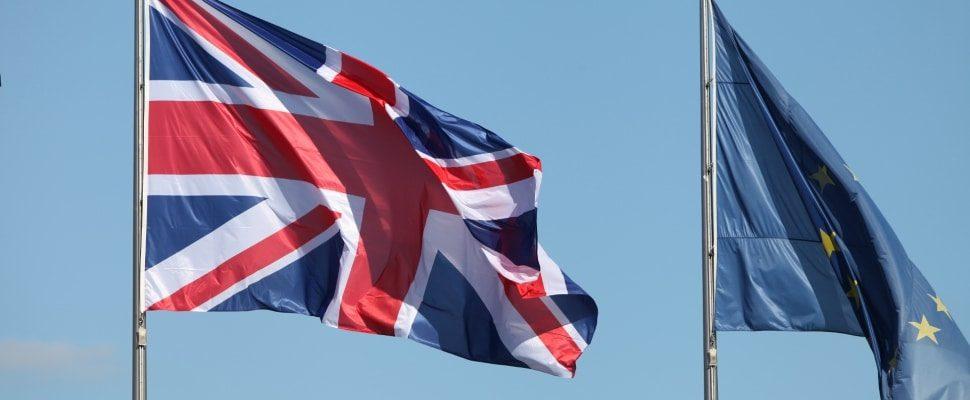 Fahnen von EU und Großbritannien, über dts