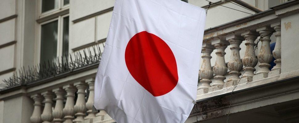 Fahne von Japan, über dts