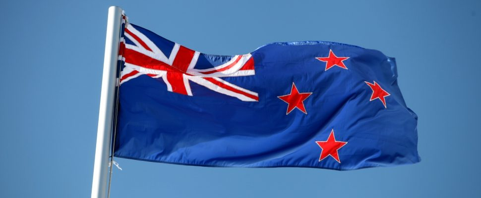 Flag of New Zealand, over dts