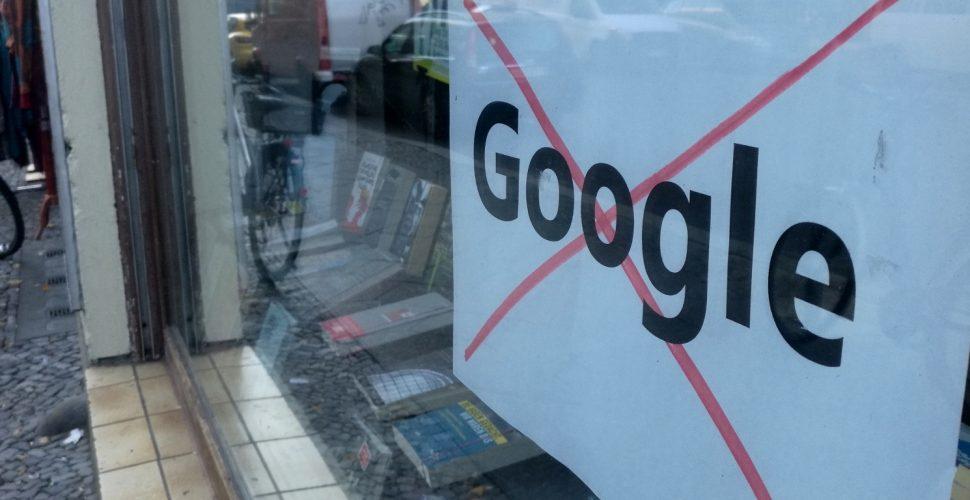 Protest gegen Google, über dts