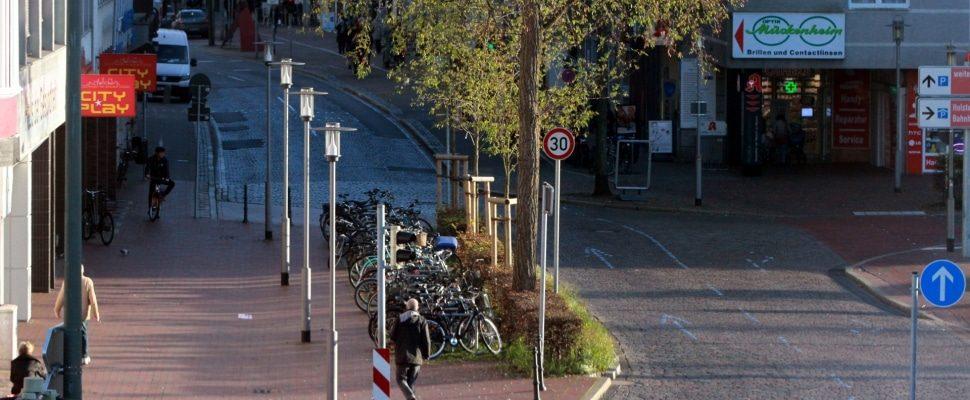 Downtown of Neumünster, via dts
