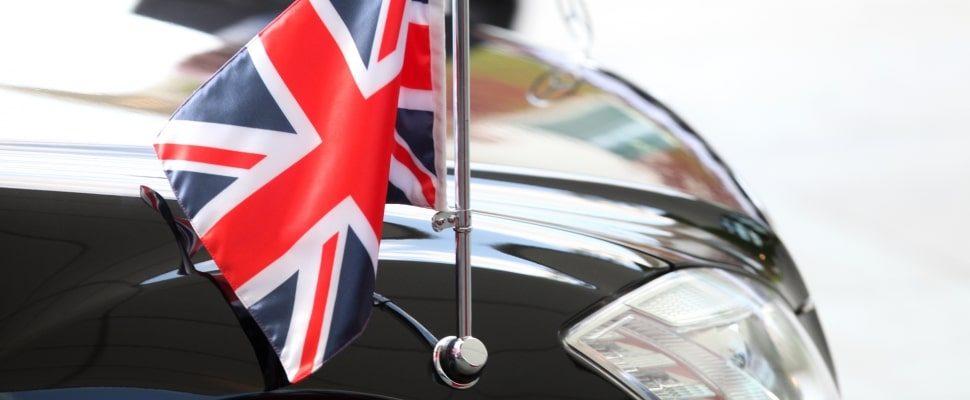 British Prime Minister's official car, via dts