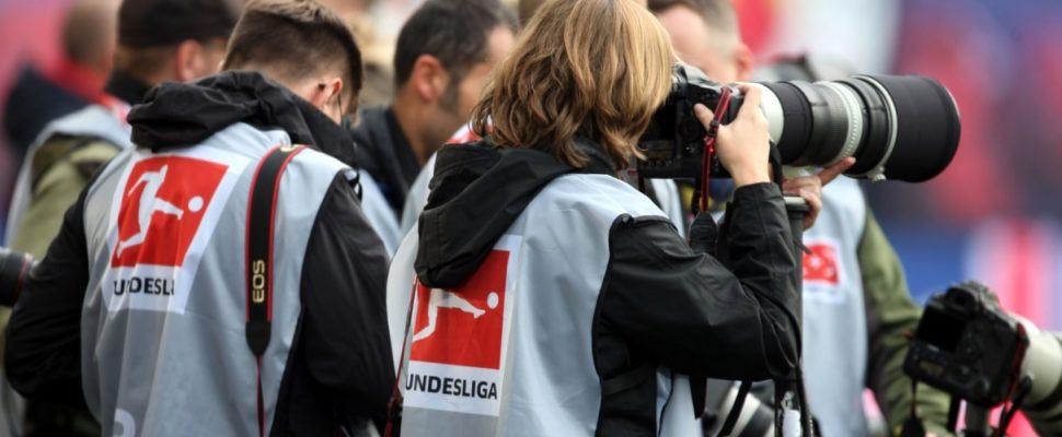 Fotografen bei einem Bundesliga