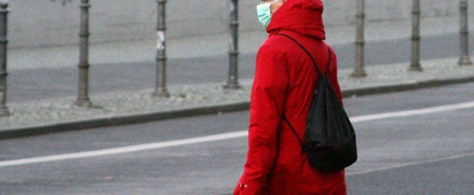 Seniorin mit Mundschutz und Einkaufstüte, über dts