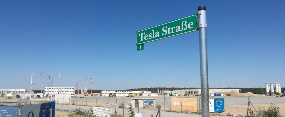 Standort von neuer Tesla