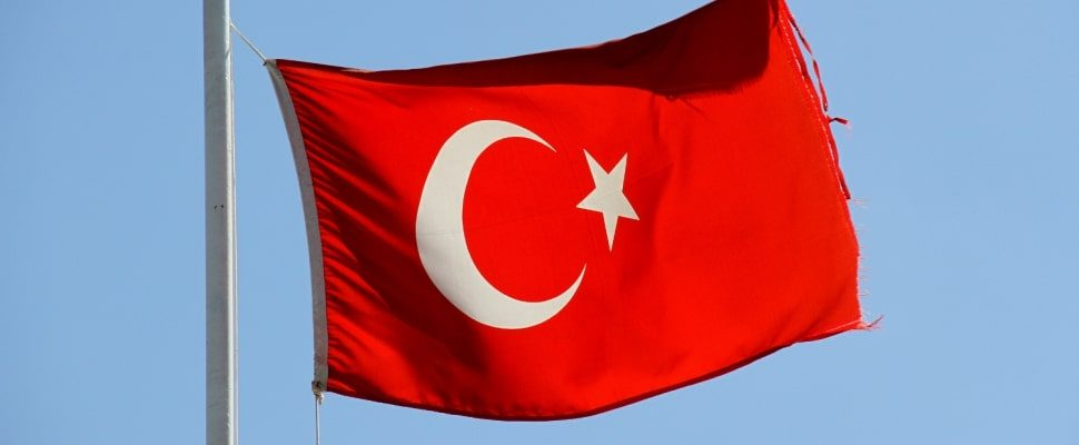 Turkish flag, over dts