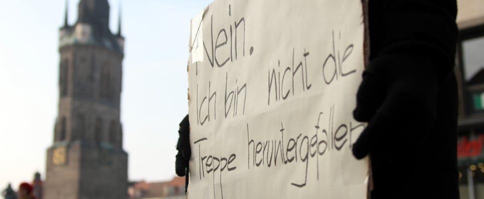 Demonstrantin gegen Gewalt an Frauen, über dts