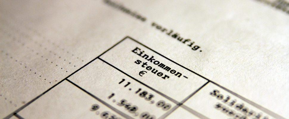 Einkommensteuer, über dts
