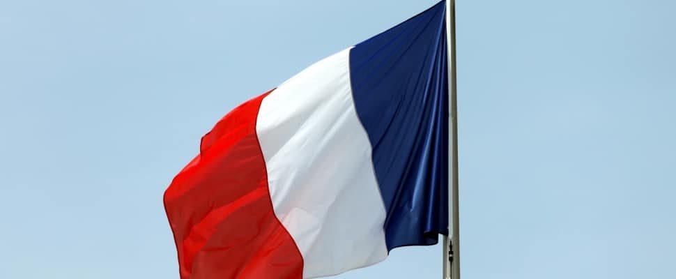 Fahne von Frankreich, über dts
