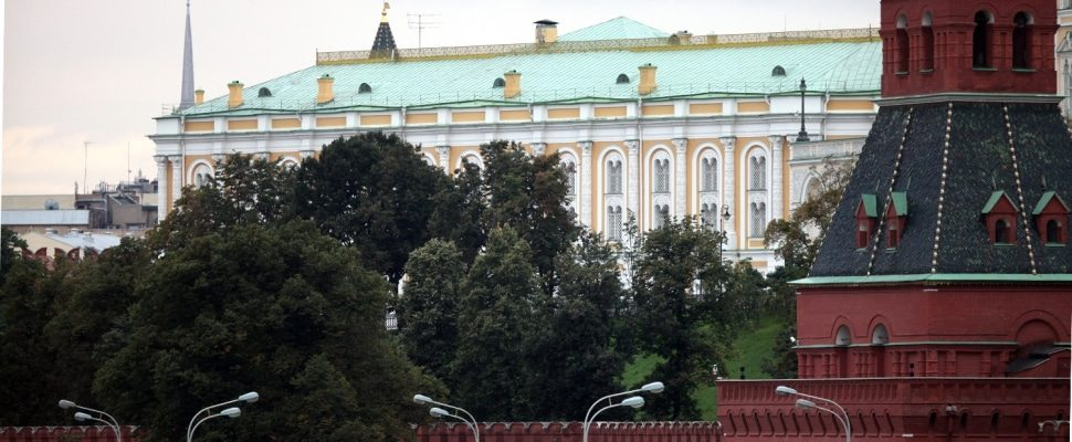 Wall of the Kremlin in Moscow, over dts
