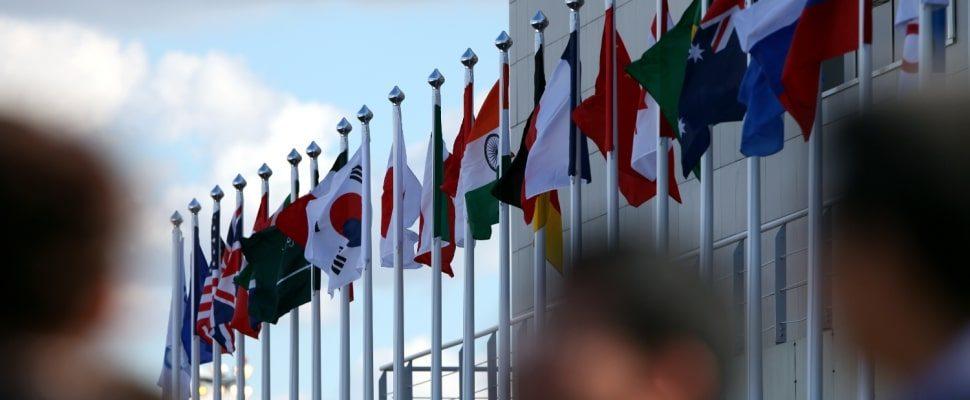 Fahnen der G20, über dts