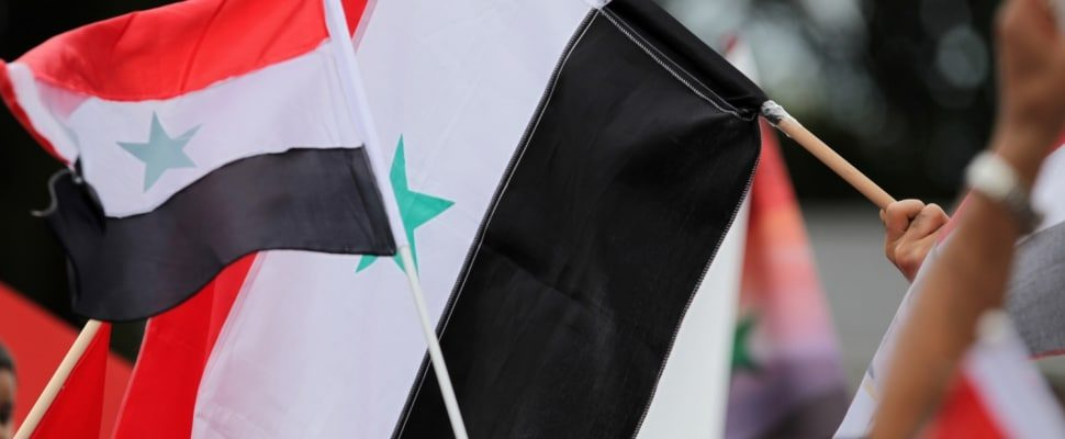 Flag of Syria, over dts
