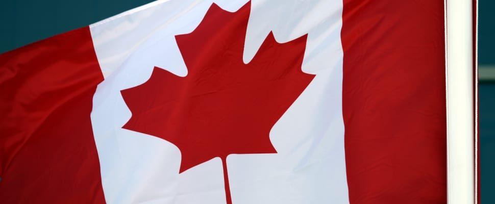 Fahne von Kanada, über dts