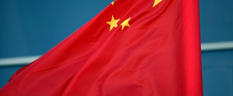 Fahne von China, über dts