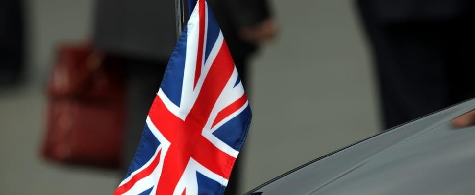 Fahne von Großbritannien, über dts