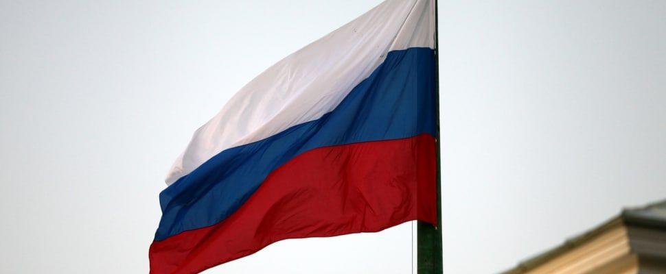 Fahne von Russland, über dts