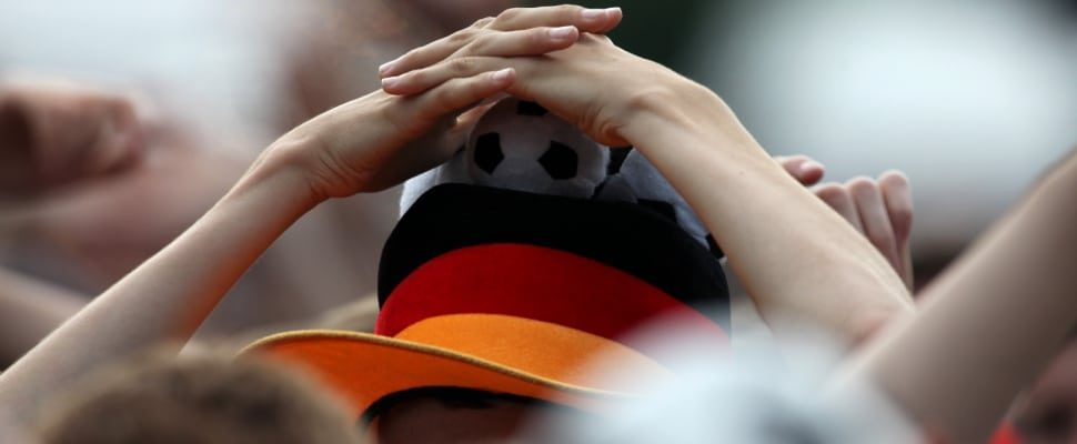 Fanático del fútbol del fútbol alemán