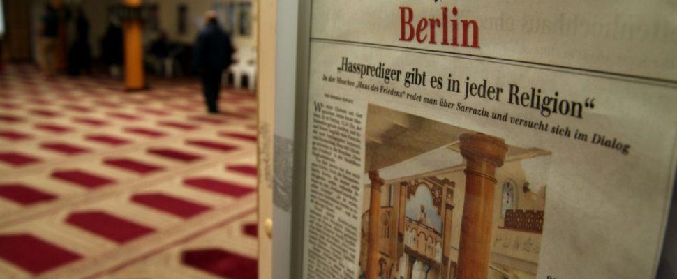 Zeitungsausschnitt über Hassprediger in einer Berliner Moschee, über dts